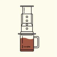 Nitelikli kahve demleme yöntemi Aeropress icon