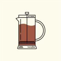 Nitelikli kahve demleme yöntemi french press icon