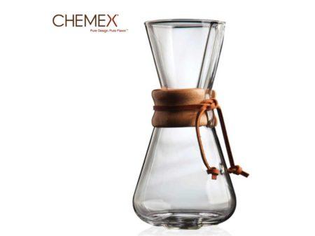 Chemex 3 Cup Ahşap Tutuculu kahve demleme ekipmanı